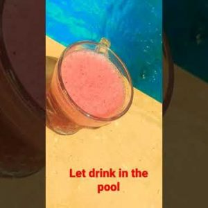 let enjoy drinking in the pool