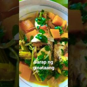 sarap ng ginataang kalabasa with malungay at isda