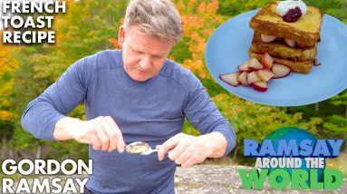 Gordon Ramsay Cooks the Perfect Apple Berry French Toast in Michigan