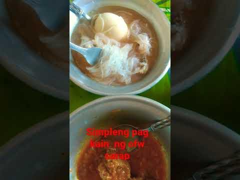 simpleng pag kain ng ofw masarap na