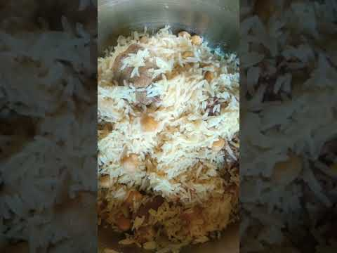 Arabian food white rice with beef#shortvideon