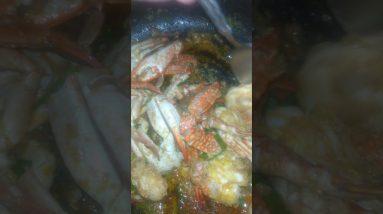 garlic crab for lunch